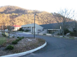 This gives a great look at the architecture of the Museum of the Cherokee Indian.