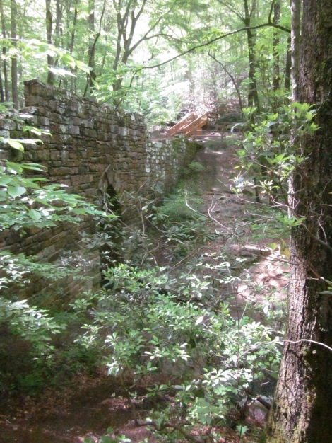 This is a great view of the side of the bridge, where you can see the Gothic arch.
