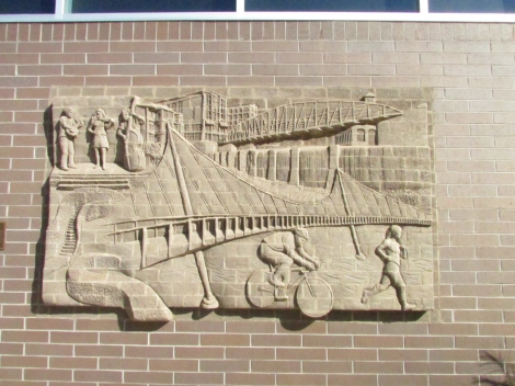 This is Brad Spencer's amazing brick sculpture on the side of the CVS at the corner of McBee and Main.