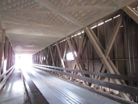 Go to the liiiight... if its at the other end of the Covered Bridge. This is the interior of the historic covered bridge.
