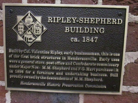 This is one of the most impressive plaques because of the building's age.