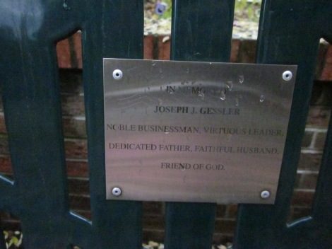 This touching plaque is located across from Jongo Jave coffeeshop at the southern end of Main Street.